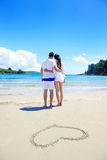 Romantic  couple in love  have fun on the beach Royalty Free Stock Photos