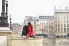 Romantic couple in love having a date royalty free stock image