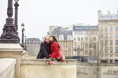Romantic couple in love having a date Royalty Free Stock Photo