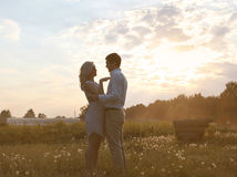 Romantic couple in love summer Royalty Free Stock Photos