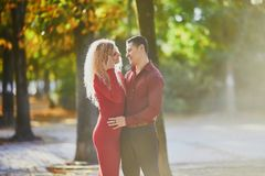 Romantic couple in love stock photography