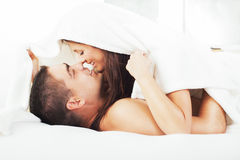 Romantic couple in the morning Stock Image