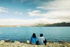 Romantic couple at New Zealand Royalty Free Stock Photo