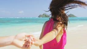 Free Romantic Couple On Beach Running Having Fun In Love Royalty Free Stock Image - 188622086