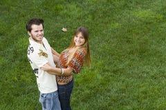 Romantic couple outdoor Stock Photo