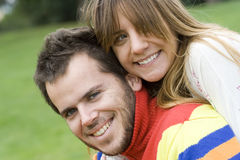 Romantic couple outdoor Royalty Free Stock Images