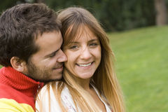 Romantic couple outdoor Stock Photography