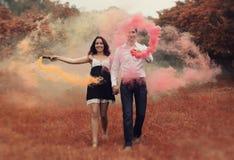 Romantic couple outdoor Stock Photography