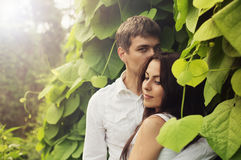 Romantic couple outdoor Royalty Free Stock Photo