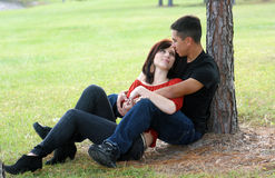 Romantic Couple Outdoors (2) Stock Image