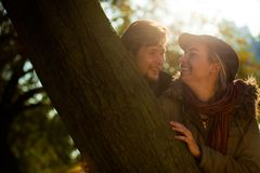 Romantic couple outdoors Royalty Free Stock Photos
