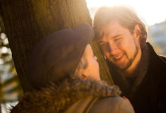 Romantic couple outdoors Royalty Free Stock Photography