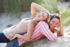 Romantic couple outdoors Stock Images