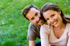 Romantic couple outdoors Stock Image