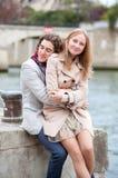 Romantic couple in Paris. Romentic couple in Paris dating royalty free stock photo