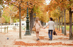Romantic couple in Paris Royalty Free Stock Images