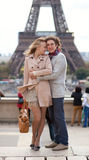 Romantic couple in Paris Stock Photo