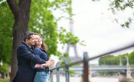 Romantic couple in Paris Stock Image