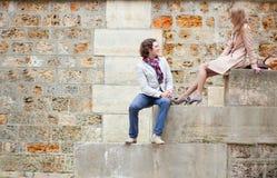 Romantic couple in Paris Stock Photo