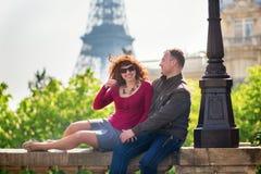Romantic couple in Paris Royalty Free Stock Photo