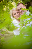 Romantic couple in the park. Royalty Free Stock Photos