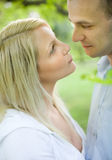 Romantic couple in the park. Stock Photography