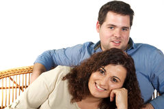 Romantic couple portrait Stock Photo