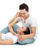 Romantic couple relaxing Royalty Free Stock Image