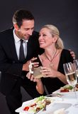 Romantic couple at the restaurant Stock Photo