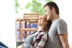 Romantic couple resting at home Stock Image