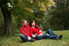 Romantic couple series Stock Photo