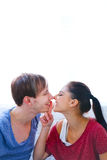 Romantic couple sharing a moment together Stock Photo