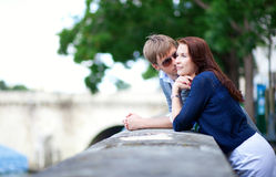 Romantic couple is talking Royalty Free Stock Photo