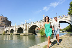 Romantic couple tourists in Rome Royalty Free Stock Images