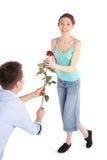 Romantic Couple on Valentine's Day Stock Photos