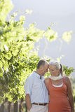 Romantic Couple In Vineyard Royalty Free Stock Image