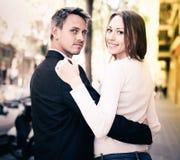Romantic couple walking Stock Image