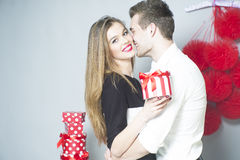 Romantic couple of young people Royalty Free Stock Photo