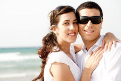 Romantic coupleholding and smiling Royalty Free Stock Photography