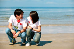 Romantic couples First Date Royalty Free Stock Photo
