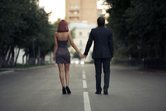 Romantic couples in love on the street Stock Image