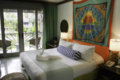 Romantic Couples Negril Resort Guest Room Jamaica Royalty Free Stock Photography