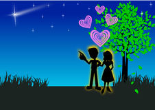 Romantic couples Stock Photos