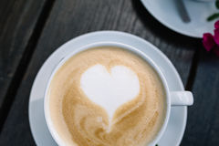 Romantic cup of coffee Royalty Free Stock Photos
