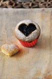 Romantic cupcake Stock Images