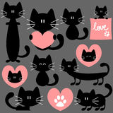 Romantic cute cats Royalty Free Stock Images