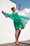 Romantic dance. With wind, position  17 Stock Image