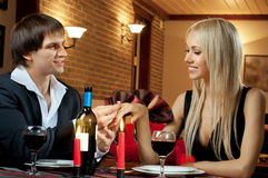 Romantic date Royalty Free Stock Photography