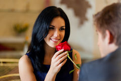 Romantic date Royalty Free Stock Photos