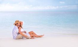 Romantic date on the beach Royalty Free Stock Photography